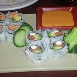 Spicy California roll and Philadelphia roll