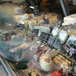 Variety of delicious deli and market goods