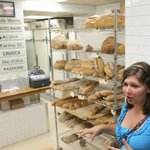 Paula telling us a little about the bakery & its freshly baked bread