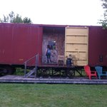 Our room for the night. Boxcar Jane
