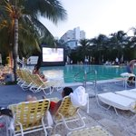 """""""Dive-In"""" movie night at the pool"""