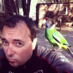 The birds are friendly at the Caravan park