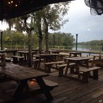 Out on the patio over the swamp
