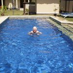 Papa in the pool!