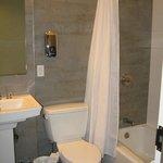 Super-clean shared bathroom down the hall