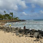 near by beach area
