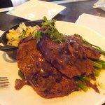 Huge portion of veal meatloaf, yummy
