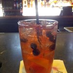 Blueberry sweet tea made with house infused berry vodka