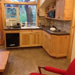 Convenience kitchen adjoining great deck