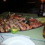 Fish platter at the beach
