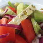 Close up of the Greek Salad