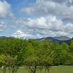The Hills from the decking on the lodge