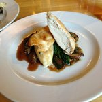 Chicken Breast, mushrooms, red wine jus