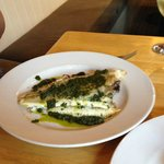 Grilled Plaice, salsa verde (pots served on side)