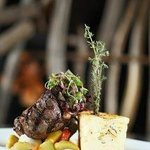 10oz filet if tenderloin with Fontina Yukon au gratin potatoes
