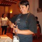 Iris, the smily Peruvian serving our wine