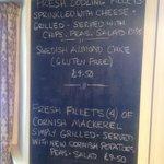 Menu of the day - Mackerel delicious