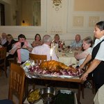 Magnificent meal on our last evening in the Grand Hotel Plaza, Montecatini