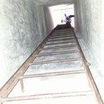 a short climb up a tunnel