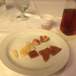 The no choice dessert and local liqueur, help yourself.
