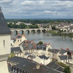 view from Saumur chateau