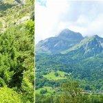Cascade de L'Arpenaz and across the way