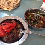 Halil Usta'nın meşhur küşnemesi ve harika salatası.