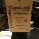 Daily Lounge Appetizer Special