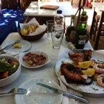 Sea food plate for two
