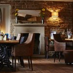 Dining area by the open fire