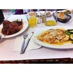 Chicken Parmigana and Lamb Shanks
