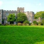Banwell castle overlooking countryside