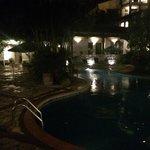 Hotel pool at night. Beautiful!