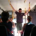 On our way to the rafts - on the bus!
