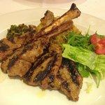 Yummy succulent lamb chops!