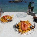 paella at bouganvlllia restaurant