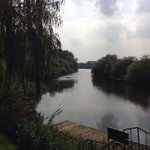 The view of the river from the pub garden