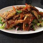 Teriyaki chicken salad, delish!