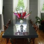 Flowers on the dining room table