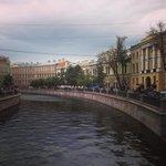 Вид гостиницы с канала Грибоедова (первый корпус)