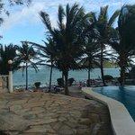 vista dalla piscina a Mapango