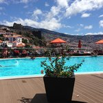 View across the pool to the Fort and the city. - Four Views Baia