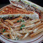 Cuban with garlic & parm fries