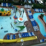 Outdoor kids pool and lazy river