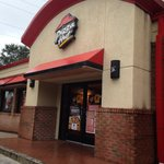 The entrance to Pizza Hut!