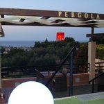 view from the pergola bar and restaurant