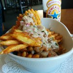 Waffle fries and Gorgonzola dip - fantastically delicious