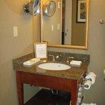 Bathroom in a suite (heated floors, robes)