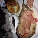 HUGE 12 oz Prime rib & Yorkshire pudding