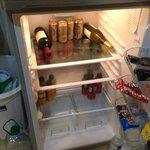 Mini Bar inside of the fridge.  You get a credit towards it if u select no room service.